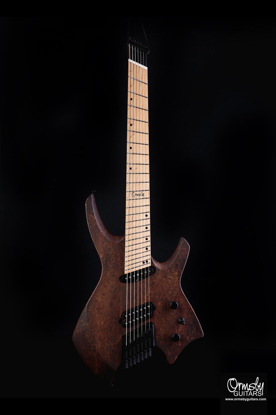 Ormsby Guitars rust headless goliath Custom Finish