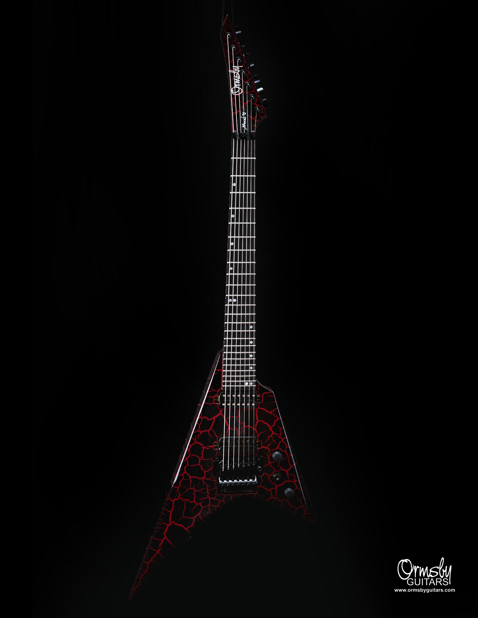 Ormsby Guitars Run 11 Metal V Crackle